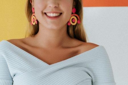 pendientes arcilla polimérica, pendientes grandes y coloridos, pendientes handmade